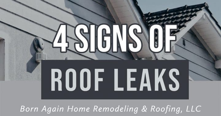 4 signs of a roof leak